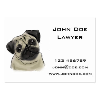 Pug Portrait Drawing Pack Of Chubby Business Cards