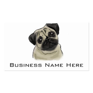Pug Portrait Drawing Pack Of Standard Business Cards