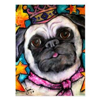 Pug Prince Postcard