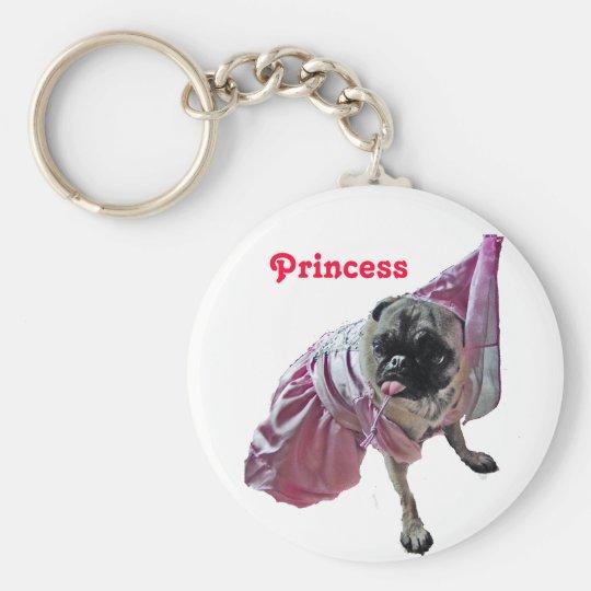 Pug Princess Key Ring