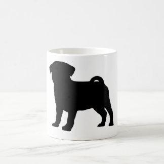 Pug Print Basic White Mug