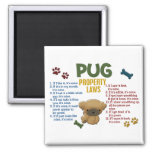 Pug Property Laws 4 Square Magnet