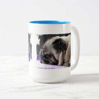Pug pug - Photography Jean Louis Glineur Two-Tone Coffee Mug
