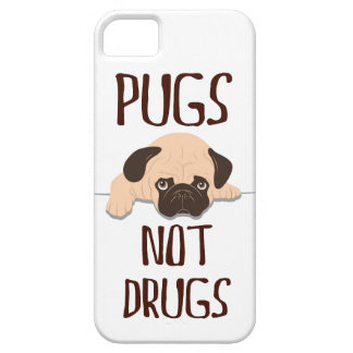 pug pugs not drugs cute dog design case for the iPhone 5