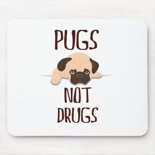 pug pugs not drugs cute dog design mouse mat
