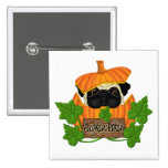 Pug Pumpkin Patch Buttons