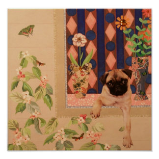 Pug Pup: Cute Poster