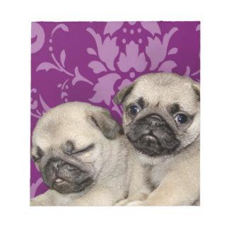 Pug puppies dog notepads