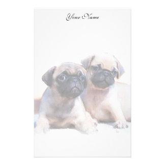 Pug puppies stationary stationery