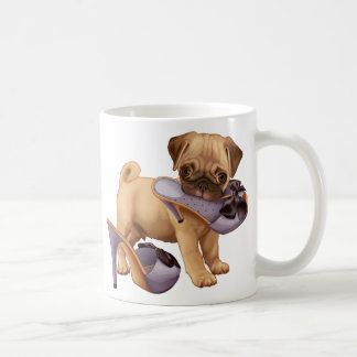 Pug Puppy and Shoe Coffee Mug