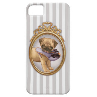 Pug Puppy and Shoe iPhone 5 Case