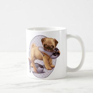 Pug Puppy and Shoe Coffee Mugs