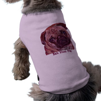 "Pug Puppy ""Bah Hum Pug"" Dog Sweater Sleeveless Dog Shirt"