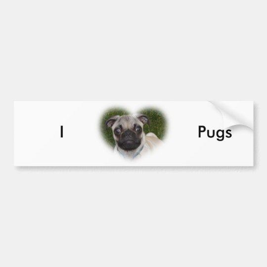 Pug Puppy Bumper Sticker