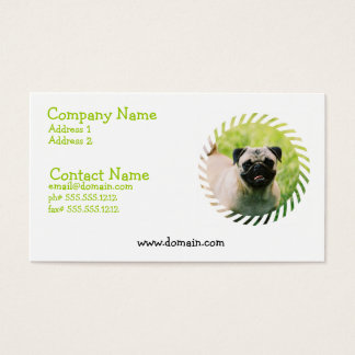 Pug Puppy Business Card