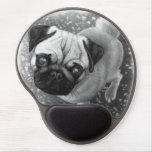 Pug Puppy Dog Art Gel Mouse Pad