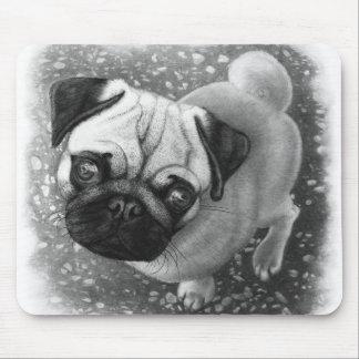 Pug Puppy Dog Art Mouse Pad