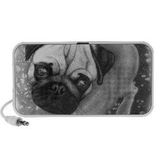Pug Puppy Dog Art Speaker System