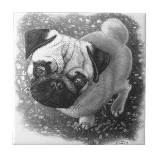 Pug Puppy Dog Art Tile