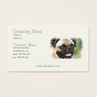 Pug Puppy Dog Business Card