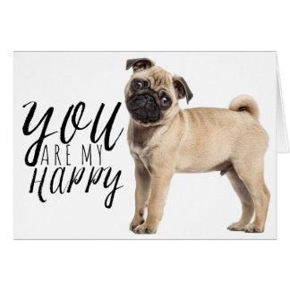 Pug Puppy Dog - Love, Hello, Thinking of You, Hi Card