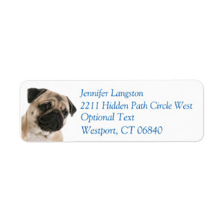 Pug Puppy Dog Return Address Name Label