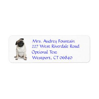 Pug Puppy Dog Return Address Name Label Return Address Label