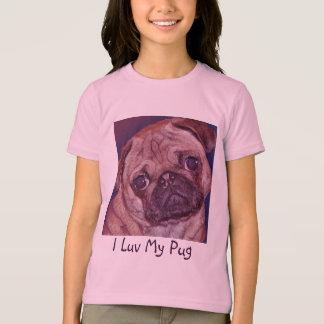 Pug Puppy Face Girl's T-shirt