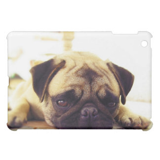 Pug Puppy Laying on the Ground looking Sad iPad Mini Case