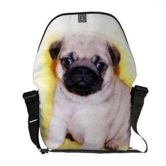 Pug Puppy Messenger Bag