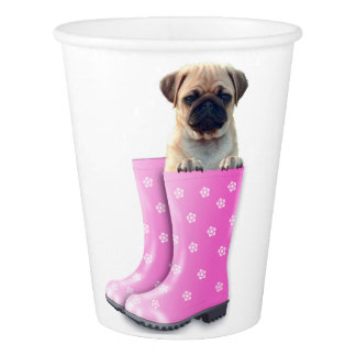Pug Puppy Paper Cup