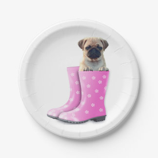 Pug Puppy Paper Plate