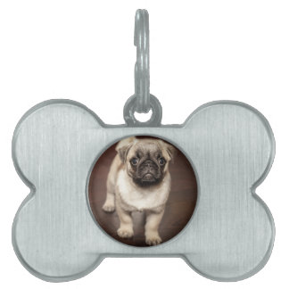 Pug Puppy Pet Name Tags