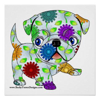 Pug Puppy Print