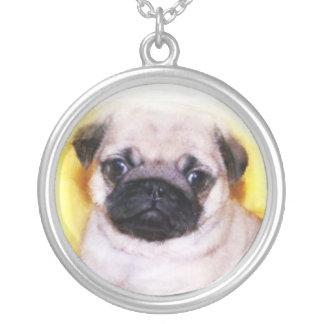 Pug Puppy silver necklace