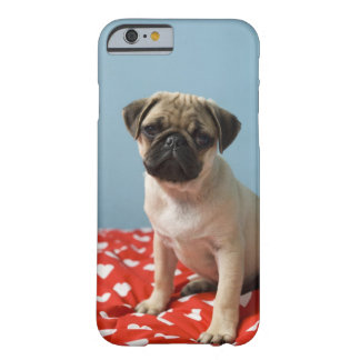Pug puppy sitting on bed barely there iPhone 6 case
