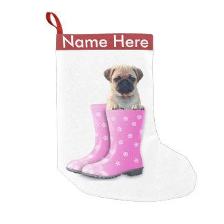 Pug Puppy Small Christmas Stocking