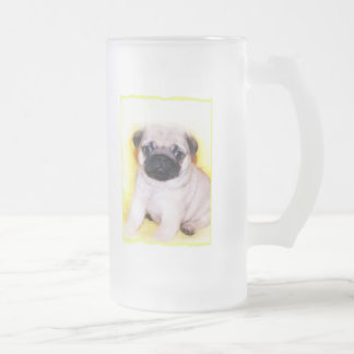 Pug puppy tall frosted mug