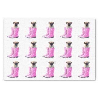 Pug Puppy Tissue Paper