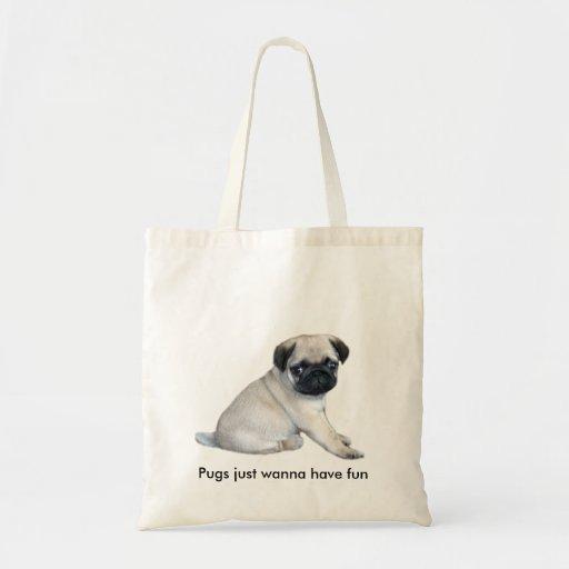 Pug Puppy Tote Bag