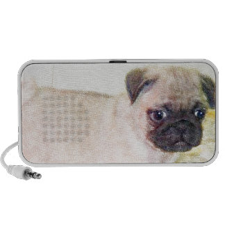 Pug Puppy Travelling Speakers