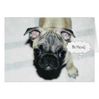 Pug Puppy Valentine s Day Greeting Card 1