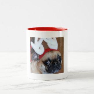Pug Reindeer Mug