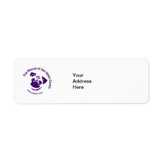 Pug Rescue Logo Purple