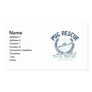 Pug Rescue Yacht Club Grunge Distressed Vintage Business Cards