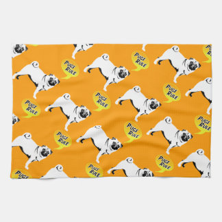 Pug Rules Hand Towel