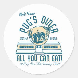Pug s Diner 50s Vintage Retro Stickers