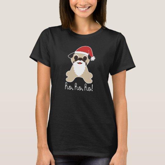 Pug Santa Claus Christmas Ho, Ho, Ho! White