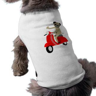 Pug Scooter Sleeveless Dog Shirt