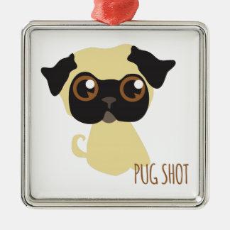 Pug Shot Christmas Tree Ornament